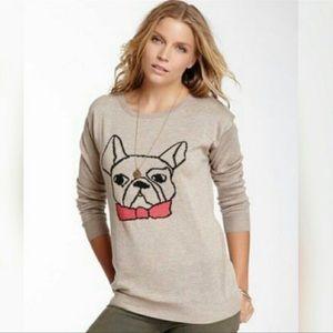 Willow & Clay French Bulldog Tan Crewneck sweater